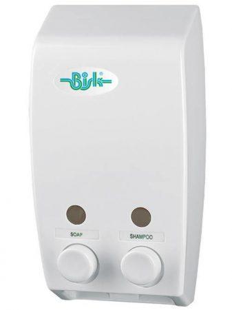 Bisk Masterline műanyag dupla 400ml fehér szappanadagoló