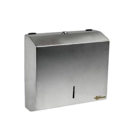 Bisk Masterline PL-S1 kéztörlő papír adagoló rozsdamentes acélból