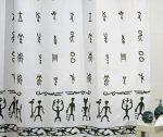 Bisk Africa textil zuhanyfüggöny
