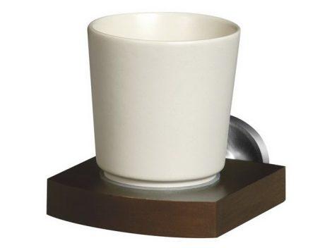 Bisk MADAGASKAR kerámia fogmosópohár tartóval nikkel/fa