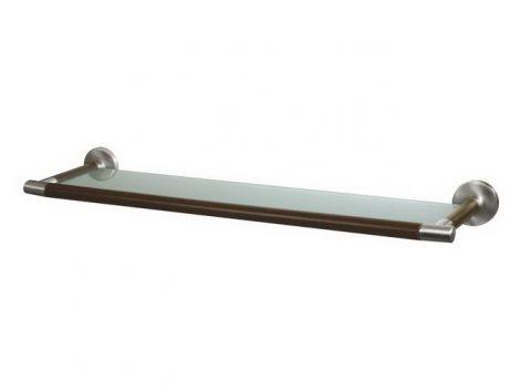 Bisk MADAGASKAR üveg piperepolc nikkel/fa