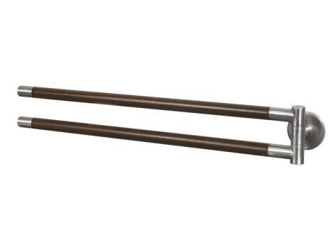 Bisk MADAGASKAR kétágú lengő törölközőtartó, nikkel/fa