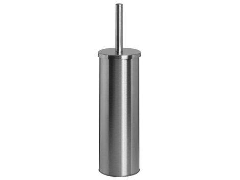 Bisk NIAGARA falra és padlóra rögzíthető hengeres WC kefe tartó rozsdamentes acélból