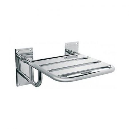 Bisk Masterline felhajtható zuhanyülőke rozsdamentes acélból
