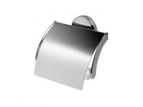 Bisk CHROMA króm WC-papírtartó fedeles