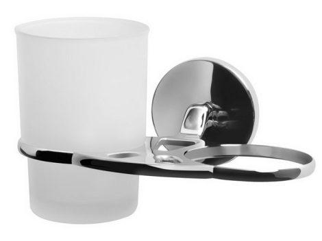 Bisk CHROMA króm dupla pohár és pohártartó
