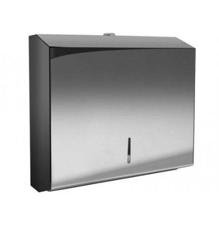 Bisk Masterline PL-S2 kéztörlő papír adagoló rozsdamentes acélból