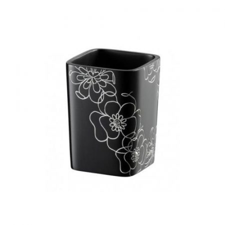 Bisk Bloom fekete pohár