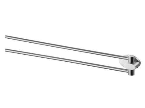 Bisk SIDE kétágú matt króm törölköző tartó