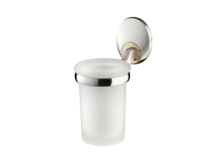 Bisk PASSION üveg pohár króm tartóval