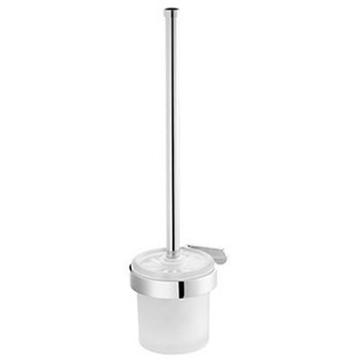 Bisk NATURA króm fali WC kefe üvegtartóval