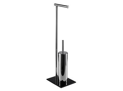 Bisk NIAGARA fekete álló wc kefe tartó