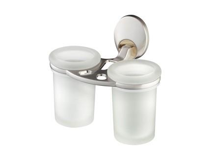 Bisk PASSION dupla üveg pohár króm tartóval