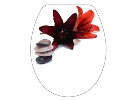 Bisk SNAIL virág mintás lecsapódásgátlós thermoplast  wc ülőke virág mintás