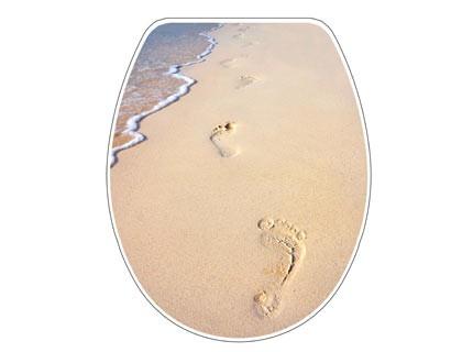 Bisk SNAIL homok mintás lecsapódásgátlós thermoplast wc ülőke