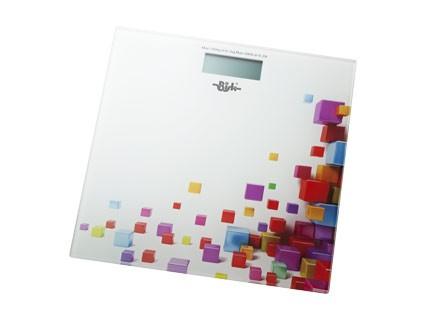 Bisk elektromos fürdőszobai mérleg (kocka mintás)