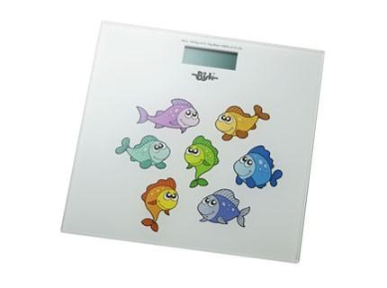 Bisk elektromos fürdőszobai mérleg (hal mintás)