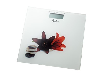 Bisk elektromos fürdőszobai mérleg (virág mintás)
