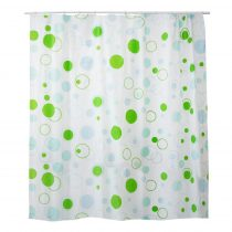 Bisk Dots zöld műanyag zuhanyfüggöny