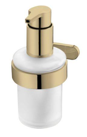 Bisk Nature Gold szappanadagoló falra szerelhető tartóval