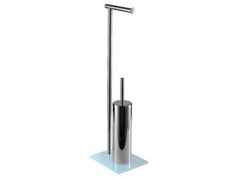 Bisk NIAGARA  álló wc kefe tartó rozsdamentes acélból