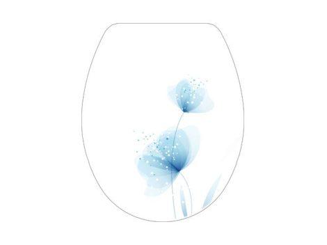 Bisk YUCCA virág mintás WC ülőkék