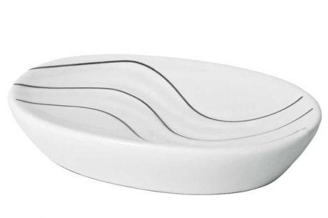 Bisk WAVE szappantartó WHITE