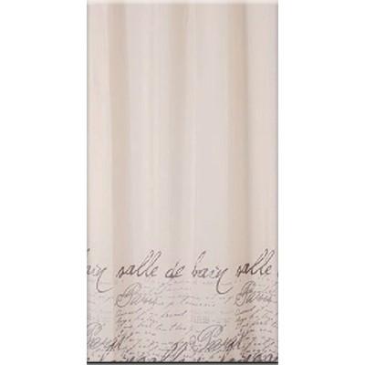 Bisk Stamp beige textil zuhanyfüggöny