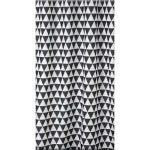 Bisk PLAIN black/white textil zuhanyfüggöny