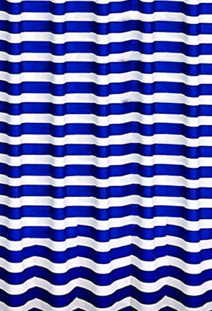 Bisk Marine fehér-kék csíkos műanyag PEVA zuhanyfüggöny