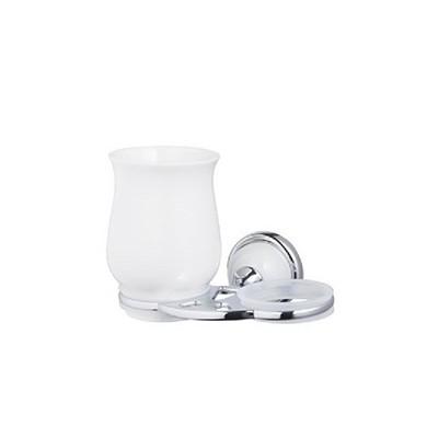 Bisk GRENADA üveg/króm dupla pohártartó pohárral