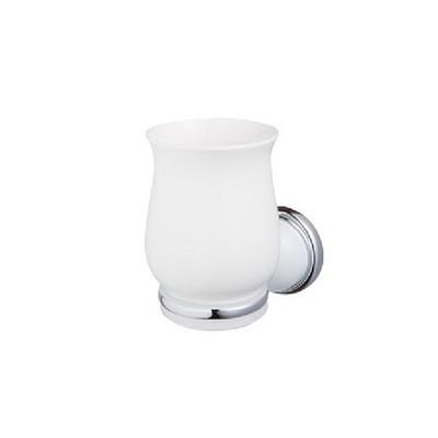 Bisk GRENADA üveg/króm pohártartó pohárral
