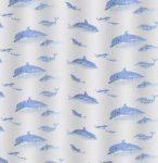 Bisk Dolphin műanyag zuhanyfüggöny