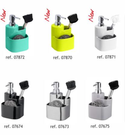 Konyhai mosogatószer adagoló türkiz színben