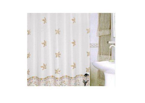 Bisk Kornati bézs színű textil zuhanyfüggöny