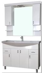 GVG Ekonomik fürdőszobai tükör két szekrénnyel, led világítással