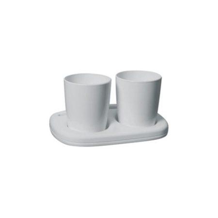 Bisk Oceanic fehér színű dupla pohártartó