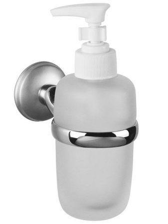 Bisk DAKOTA matt króm folyékony szappan adagoló üveg betéttel