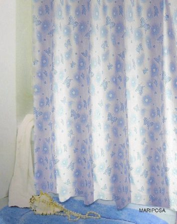Bisk Mariposa kék műanyag zuhanyfüggöny