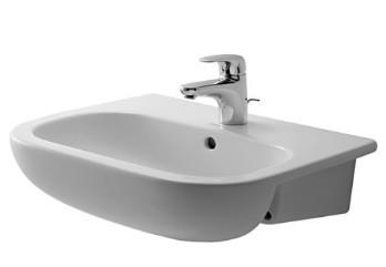 Duravit D-Code félig beépíthető mosdó - Mediterrán Fürdőszoba