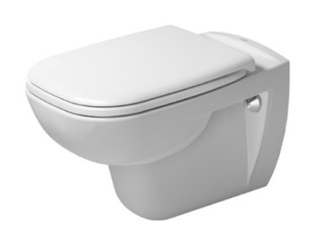 Duravit D-Code fali mélyöblítéses perem nélküli fali wc (Rimless)