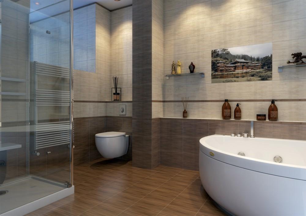 Golden Tile 25x40 Bamboo Mix 2 dekorcsempe - Mediterrán Fürdőszoba