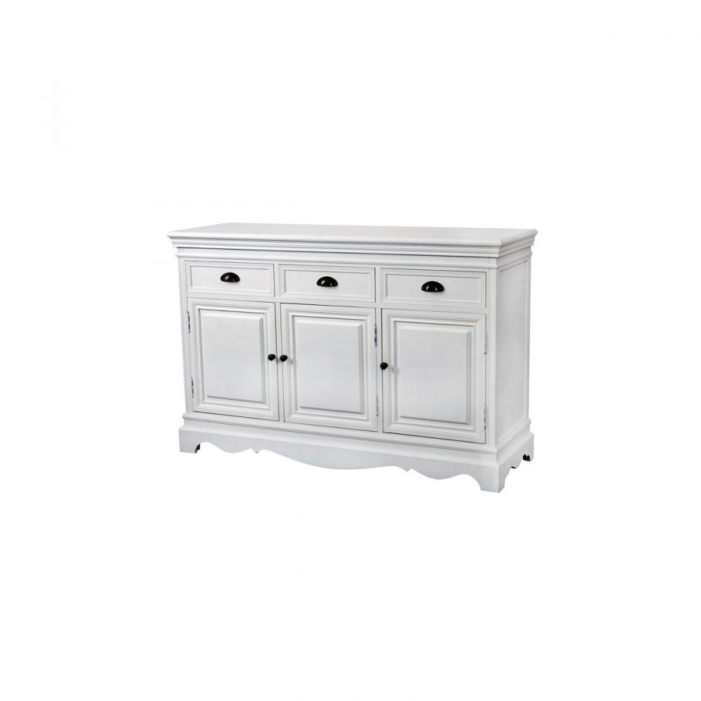 Latina fehér színű alacsony, hosszú szekrény - Mediterrán Fürdőszoba
