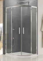 SanSwiss OCELIA Negyedkörív - 2 tolóajtó és két fix üvegelem