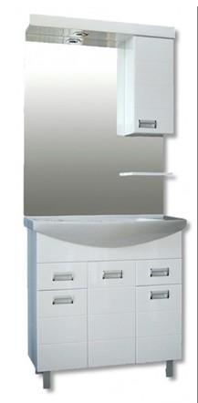 GVG Szquare lábakon álló fürdőszobabútor mosdóval 85cm