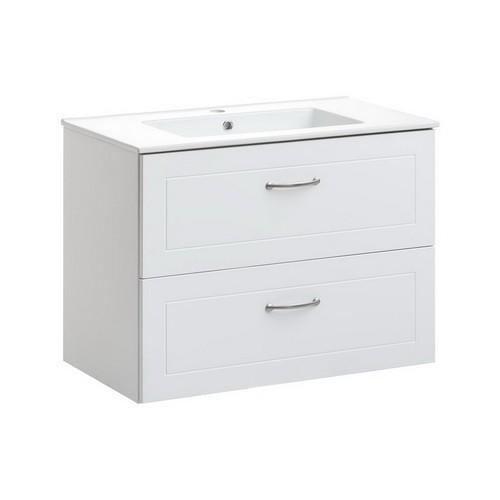 SOPHIA WHITE fehér színű 80 cm mosdószekrény - Fürdőszobavilág.hu