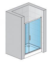 SanSwiss TOP-LINE lengőajtó fix üvegelemmel