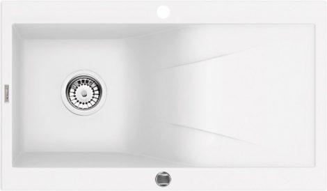 Deante Rapsodia 1 medencés csepegtetős mosogató szifonnal, leeresztővel