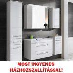 Active fehér színű 80 cm fürdőszobai bútor összeállítás