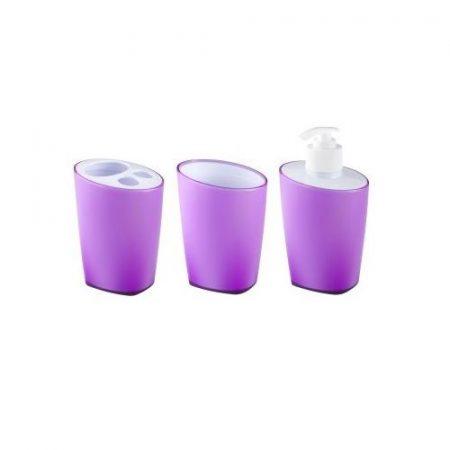 Bisk Art lila színű fürdőszoba szett